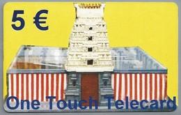 DE.-  TELEFONKARTE. 5 €. - One Touch Telecard. MIT DEN BESTEN EMPFEHLUNGEN VON SENTHUR RAJEETHAN - Telefoonkaarten