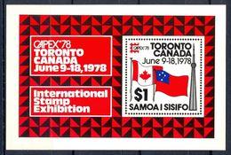 A154- Samoa 1978 MS CAPEX 78 Stamp Exhibition Toronto Canada. - Philatelic Exhibitions