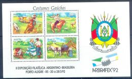 A158- Brasil Bresil Brazil 1992. Arbrafex Argentina-Brazil Philatelic Exhibition. Horse. - Philatelic Exhibitions