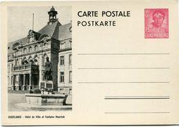 LUXEMBOURG ENTIER POSTAL NEUF AVEC ILLUSTRATION DUDELANGE HOTEL DE VILLE ET FONTAINE MAYRISH - Interi Postali