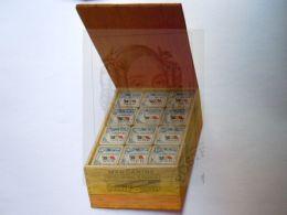 """Reclame Publicité Margarine """"Le Drapeau"""" De Vlag Merxem Afbeelding Doos Met Pakjes Boîte Avec Pacquets Open 9 X 14 Cm - Reclame"""