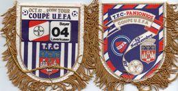 2 Fanions Du TOULOUSE FC En Coupe UEFA 1987 - Habillement, Souvenirs & Autres