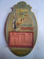 """Reclame Publicité Margarine """"Le Drapeau"""" De Vlag Merxem Kalender Calendrier 1923 Kompleet Form. 10 X 17 Cm - Kalenders"""