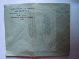 """Lege Enveloppe Reclame Publicité Margarine """"Le Drapeau"""" Merxem - Publicité"""