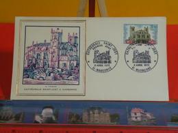 FDC Luxe > Cathédrale Saint Juste à Narbonne (H. Thiaude)> (11) Narbonne > 8.4.1972 > 1er Jour - 1970-1979