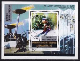 Republique Centrafricaine 1976 Winterolympics Innsbrück  500 F. Y&T Block 11 - Winter 1976: Innsbruck