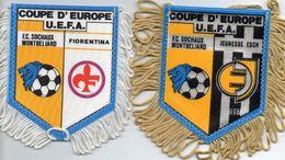 2 Fanions Du FC SOCHAUX  En Coupe UEFA 1989/90 - Habillement, Souvenirs & Autres