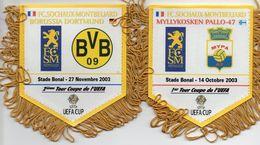 2 Fanions Du FC SOCHAUX  En Coupe UEFA 2003 - Habillement, Souvenirs & Autres