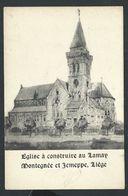 +++ CPA - Eglise à Construire Au LAMAY MONTEGNEE Et JEMEPPE - Liège  // - Saint-Nicolas