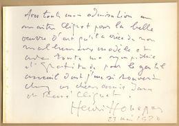 Henri Honegger (1904-1992), Violoncelliste Suisse - Belle Dédicace (1970) - Autographe - Autographes