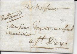 1757 - MEURTHE ET MOSELLE - LETTRE Par EXPRES (RARE) De BADONVILLER => ST DIE (VOSGES) - Marcophilie (Lettres)