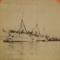 Stéréo 1893 Léon & Lévy . Toulon . Fêtes Franco-russes . Russie . Bateau De Guerre . - Fotos Estereoscópicas