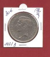 20 Fr - Vier Belga - 1931 Pos B - Prachtig - 11. 20 Francs & 4 Belgas