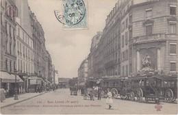 PARIS - Rue Linné (Vè Arrt.) Quartier St-Victor - Station Des Omnibus Jardin Des Plantes - Transport Urbain En Surface