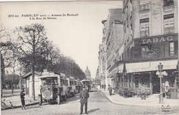 PARIS (XVè Arrt.) - Avenue De Breteuil à La Rue De Sèvres - Autobus - Café-Terrasse - Belle Carte Animée - Public Transport (surface)
