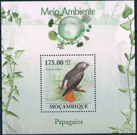 Bloc Sheet Oiseaux Perroquets Birds Parrots Neuf MNH ** Mozambique Moçambique 2010 - Papagayos