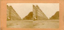 (59)  Photo Originale Sur Carton Fin 1800 Paris Rue De Rivoli 16cm X 8.5cm (Bon Etat) - Photos Stéréoscopiques