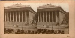 (59)  Photo Originale Sur Carton Fin 1800 Paris Place De La Bourse 16cm X 8.5cm (Bon Etat) - Photos Stéréoscopiques