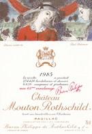 Illustration Dessin Inedit De Paul Delvaux Chateau Mouton Rothschild Pauillac 63 Eme Vendange 1985 - Altre Illustrazioni