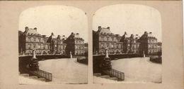 (59)  Photo Originale Sur Carton Fin 1800 Paris  Palais Du Luxembourg 16cm X 8.5cm (Bon Etat) - Photos Stéréoscopiques