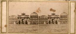 (59)  Photo Originale Sur Carton Fin 1800 Paris Carouselle 16cm X 8.5cm (Bon Etat) - Stereoscopic
