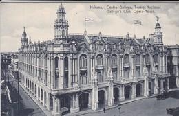 CUBA---RARE---HABANA---centro Gallego, Teatro Nacional---voir 2 Scans - Cuba