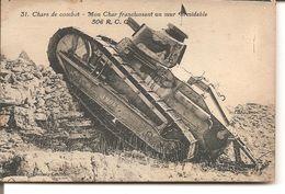 Chars De Combat - Mon Char Franchissant Un Mur Formidable 506 R,C.C - Materiale