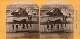 (59)  Photo Originale Sur Carton Fin 1800 Paris  Pont Et Place De La Concorde 16cm X 8.5cm (Bon Etat) - Stereoscopic
