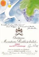 Illustration Dessin Inedit John Huston Chateau Mouton Rothschild Pauillac 1982 60 Eme Vendange - Illustrateurs & Photographes