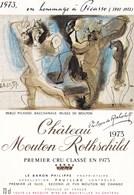 Illustration Dessin  Pablo Picasso Chateau Mouton Rothschild 1973 Premier Cru Classé Pauillac - Picasso