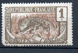 MOYEN CONGO - 1900: 1c Gris Et Bistre -  N° 48* - Nuovi