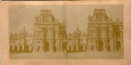 (59)  Photo Originale Sur Carton Fin 1800 Paris Louvre  16cm X 8.5cm (Bon Etat) - Photos Stéréoscopiques