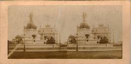 (59)  Photo Originale Sur Carton Fin 1800 Paris Place Du Trone 16cm X 8.5cm (Bon Etat) - Photos Stéréoscopiques