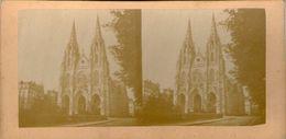 (59)  Photo Originale Sur Carton Fin 1800 Paris  Sainte Clotilde 16cm X 8.5cm (Bon Etat) - Photos Stéréoscopiques