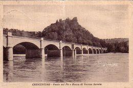 CRESCENTINO-VERCELLI-CARTOLINA VIAGGIATA IL 12-9-1950-CARTOLINA PRODOTTA TRA IL 1930-40 - Vercelli