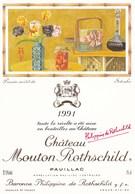 Illustration Dessin Inedit De Setsuko Mouton Rothschild 1991 Pauillac - Illustrateurs & Photographes