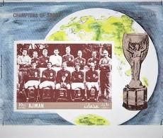 PROOF. AJMAN 1968. FOOTBALL. WORLD CUP 1966. SS. MNH. - Copa Mundial