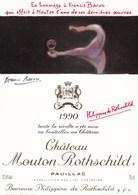 Illustration Dessin Francis Bacon Mouton Rothschild 1990 Pauillac - Illustrateurs & Photographes