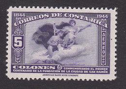 Costa Rica, Scott #C101, Mint Never Hinged, Mercury And Plane, Issued 1944 - Costa Rica