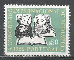 Portugal 1962. Scott #891 (U) Intl. Congress Of Pediatrics, Children Reading - 1910-... République