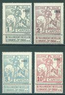 BELGIUM - 1911 - MNH/** - OPDRUK OVERPRINT SURCHARGE 1911  - COB 92+94+96+98  TYPE MONTALD - Lot 16188 - 1910-1911 Caritas