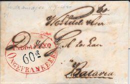 INDRAMAYO INDRAMAYU WEST JAVA NED INDIE ENVELOPPE CIRCULEE 1840 A BATAVIA RARISIME VOIR SCAN ORIGINAL - Indes Néerlandaises