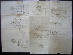 Metz: Lot De 7 Lettres Entre 1838 Et 1848  Pour Epense (Marne) Dont 6 Avec Correspondance Voir Photos ! - Postmark Collection (Covers)