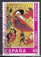 Spagna, 1991 - 45p The Birth Of Christ - Nr.2659 Usato° - 1931-Oggi: 2. Rep. - ... Juan Carlos I