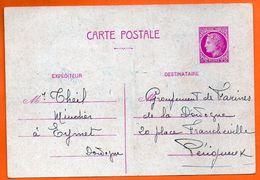 YVERT N° 679   CP1 1945  Entier Postal N° JJ 244 - Ganzsachen