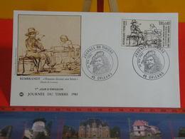 FDC > Journée Du Timbre 1983. Rembrandt Homme Dictant Une Lettre > (45) Orléans > 26.2.1983 > 1er Jour - Coté !! € - FDC