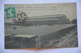 CHALON-sur-SAONE-inondations Des 24 Et 25 Janvier 1910-chantiers Schneider Et Cie-les Nouveaux Ateliers - Chalon Sur Saone
