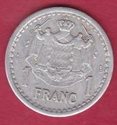 Monaco - Louis II - 1 Franc Aluminium (1943) - 1922-1949 Louis II