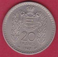 Monaco - Louis II - 20 Francs - 1947 - Mónaco