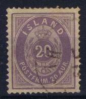 Iceand: Mi  10 A FA 14 Obl./Gestempelt/used   1876 - 1873-1918 Dänische Abhängigkeit